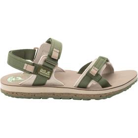 Jack Wolfskin Outfresh Deluxe Sandals Women, olijf/beige